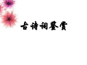 关于古诗词鉴赏的心得(精选1000字)